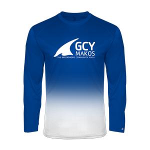 Badger Sport Men's Ombre Long Sleeve Tee Shirt