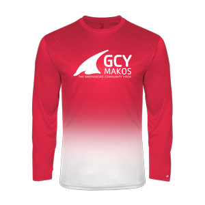 Badger Sport Youth Ombre Long Sleeve Tee Shirt