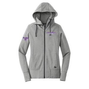 Women's Tri-Blend Fleece Full-Zip Cowl Neck Hoodie