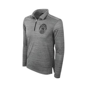 TSJ Men's Long Sleeve Quarter Zip Polo Tiger Stripe Jersey