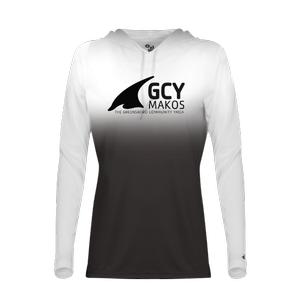 Badger Sport Women's Ombre Hooded Tee Shirt